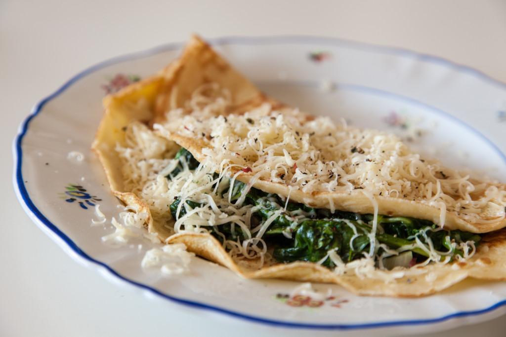 Slaná varianta, špenátovo-sýrová