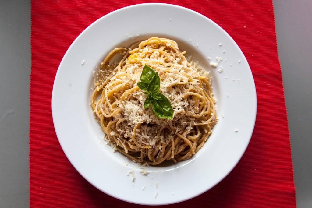 Špagety carbonara aneb lanýžovo oblíbené baby food