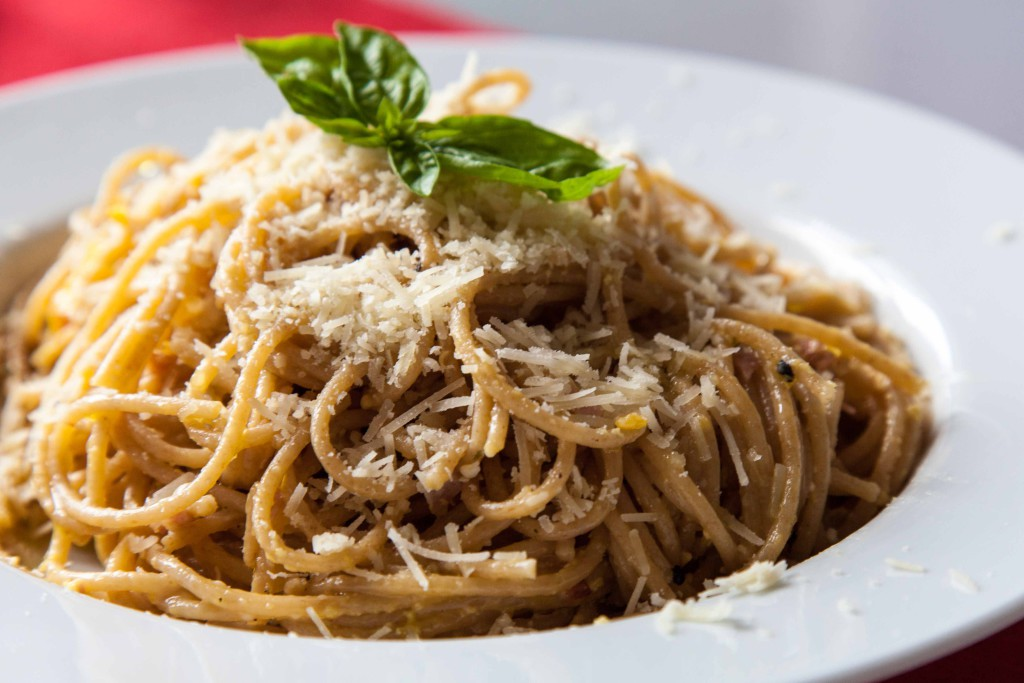 Špagetky v detailu.